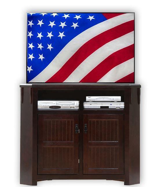 American Heartland Poplar Tall Corner TV Stand-85737