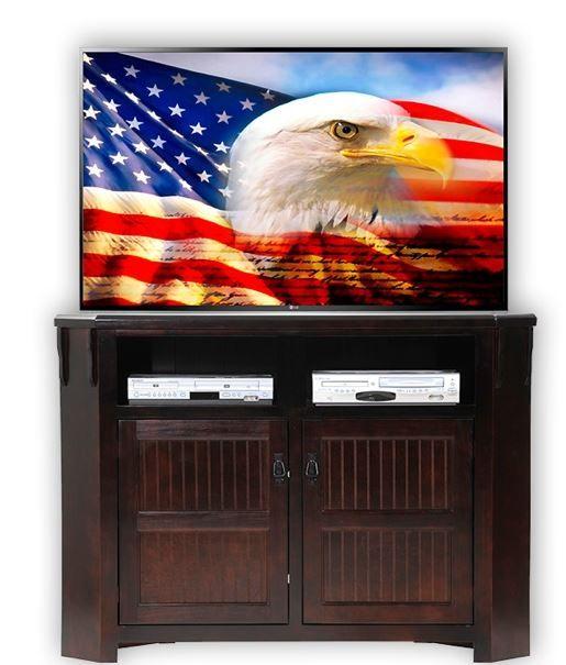 American Heartland Poplar Tall Corner TV Stand-85743