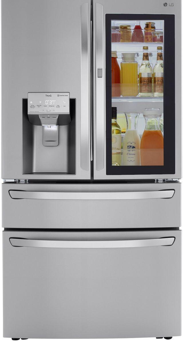 LG 22.5 Cu. Ft. PrintProof™ Stainless Steel Smart Wi-Fi Enabled Counter Depth French Door Refrigerator-LRMVC2306S