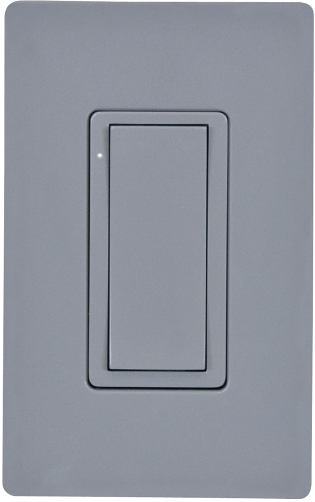 Crestron® Cameo® Gray Smooth 120 V Wireless In-Wall Switch-CLW-SWEX-P-GRY-S
