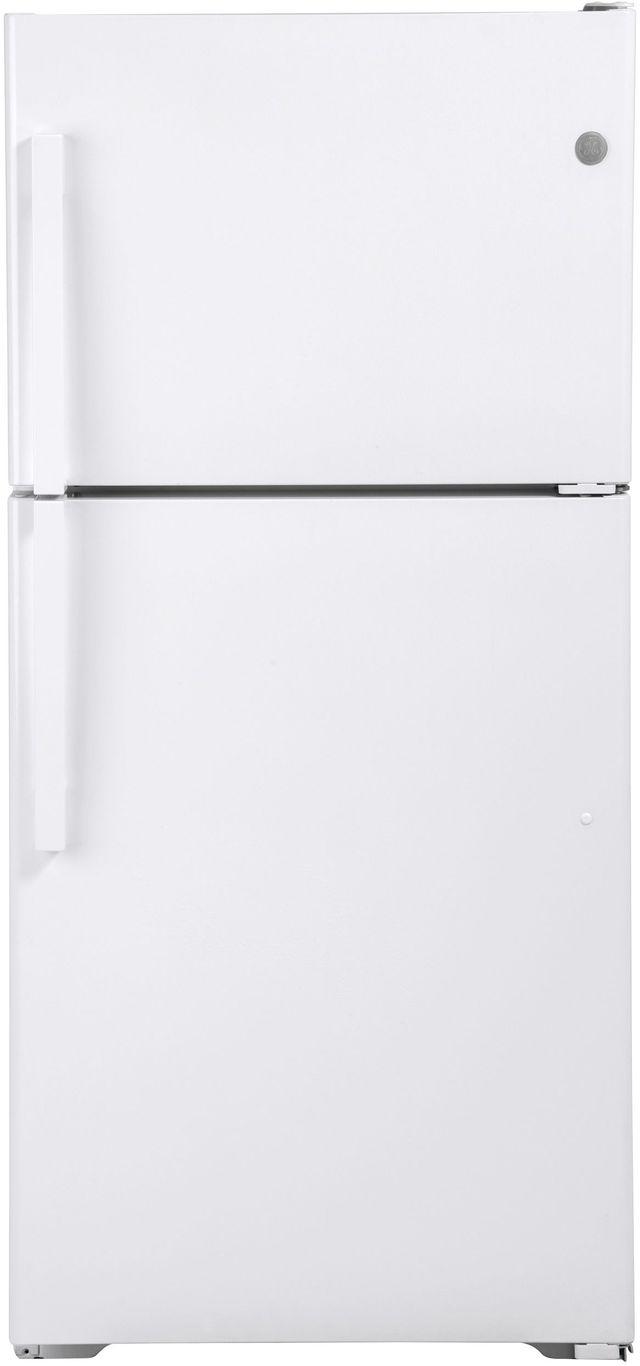 GE® 19.1 Cu. Ft. White Top Freezer Refrigerator-GTE19DTNRWW