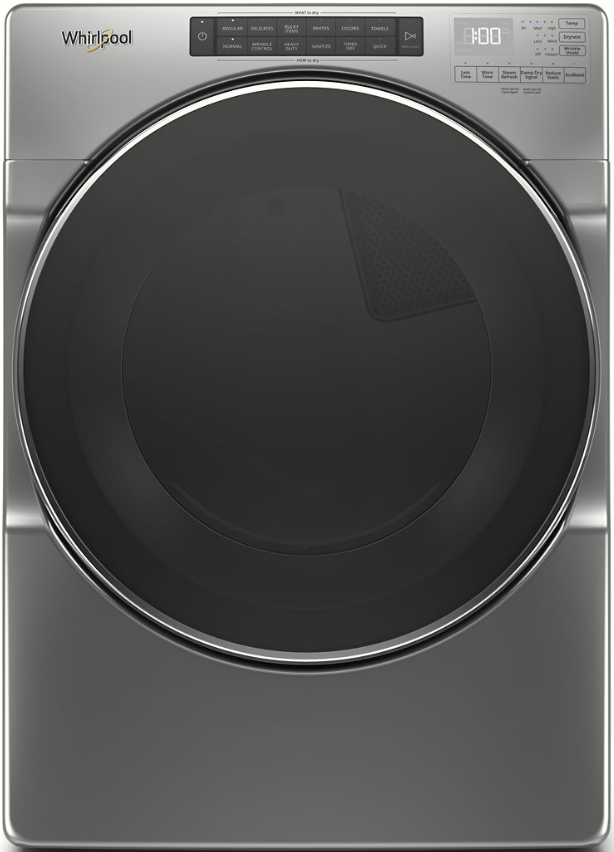 Whirlpool® 7.4 Cu. Ft. Chrome Shadow Front Load Electric Dryer-WED6620HC