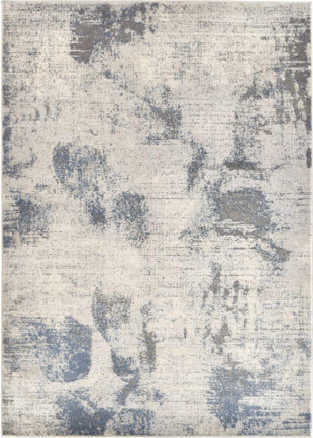 Tapis de zone Studio Line, blanc/bleu, Renwil®-RTAB-35319-58