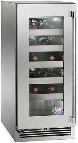 """Perlick® Signature Series 15"""" Outdoor Wine Reserve-Stainless Steel-HP15WO-3-3L"""