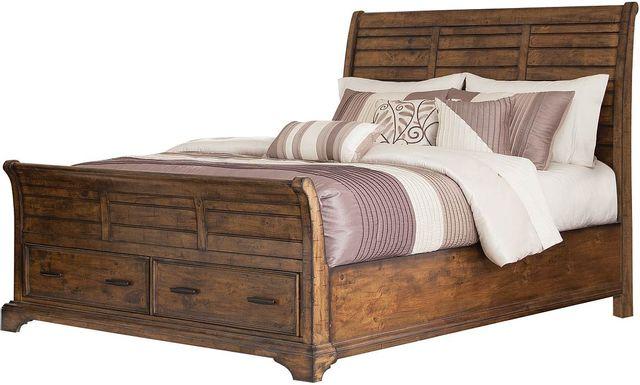 Coaster® Elk Grove Rustic Vintage Bourbon Eastern King Bed-203891KE