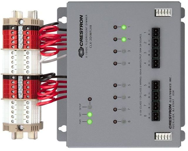 Crestron® 8 Channel 0-10V Dimmer Module With Terminal Block-GL-CAEN-2DIMFLV8-277 KIT