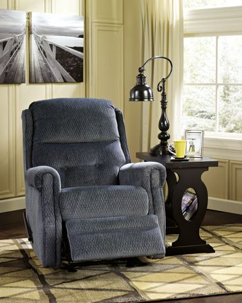 Signature Design by Ashley® Meadowbark Navy Glider Recliner-8640627