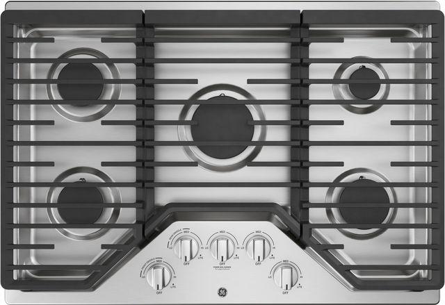 "GE® 30"" Built-In Gas Cooktop-Stainless Steel-JGP5030SLSS"