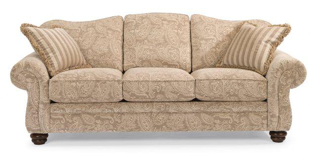 Flexsteel® Bexley One-Tone Fabric Sofa without Nailhead Trim-8646-31