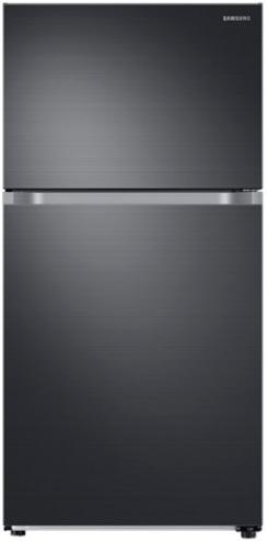 Samsung 21 Cu. Ft. Top Freezer Refrigerator-Fingerprint Resistant Black Stainless Steel-RT21M6215SG