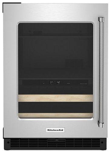 KitchenAid® 4.89 Cu. Ft. Stainless Steel Frame Beverage Center-KUBL214KSB