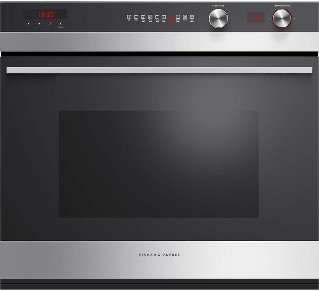 """Fisher & Paykel Series 7 29.91"""" Stainless Steel Electric Single Oven Built In-OB30SCEPX3 N"""