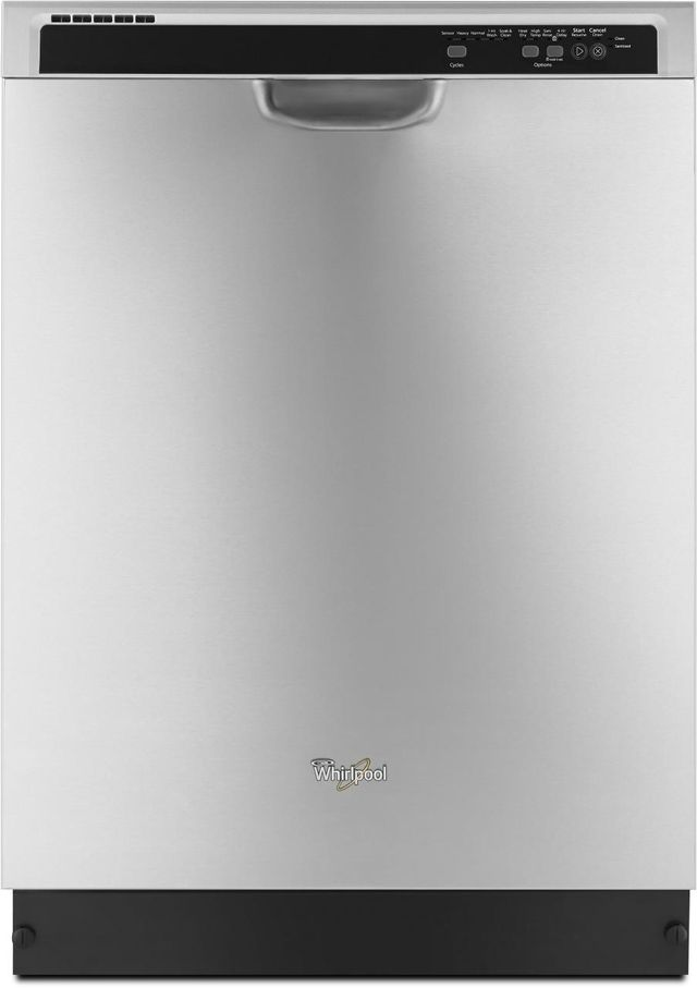 """Whirlpool® 24"""" Built-in Dishwasher - Monochromatic Stainless Steel-WDF540PADM"""
