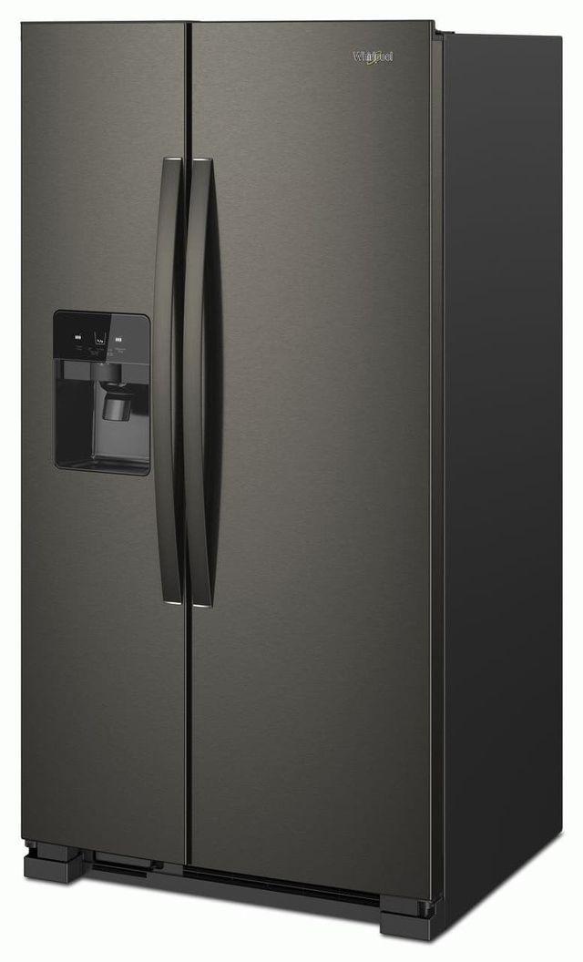 Whirlpool® 24.6 Cu. Ft. Side-by-Side Refrigerator-Fingerprint Resistant Black Stainless-WRS325SDHV