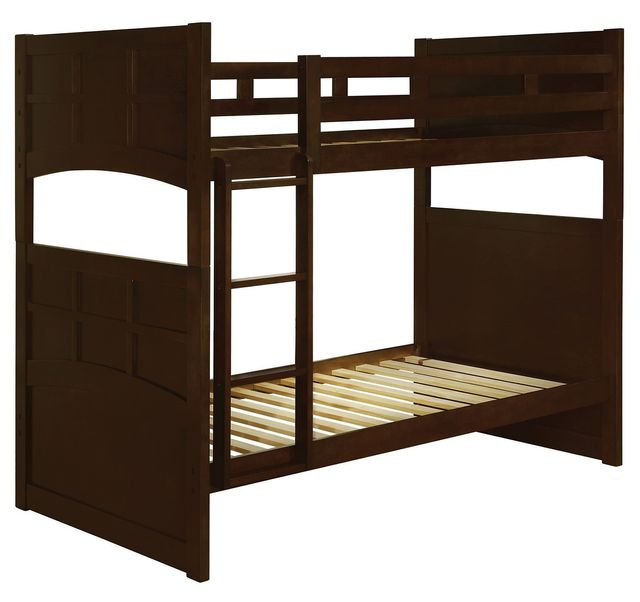 Coaster® Jasper Warm Cappuccino Twin Bunk Bed-460136