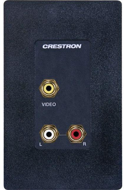 Crestron® Media Presentation Wall Plate-Black-MP-WP100-B