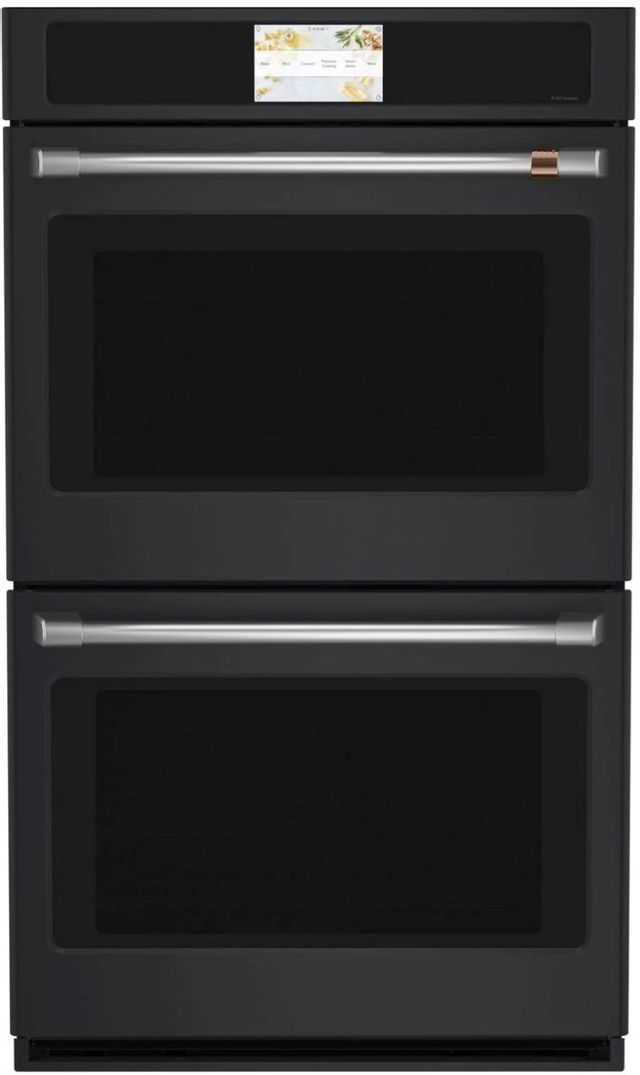"""Café™ Professional Series 30"""" Matte Black Double Electric Wall Oven-CTD90DP3ND1"""