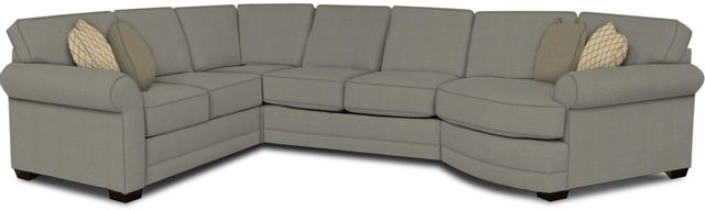 England Furniture Co. Brantley 4 Piece Culpepper Cement/Alvarado Mineral/Perth Leather Sectional-5630-28-22-43-95+8612+7948+8601
