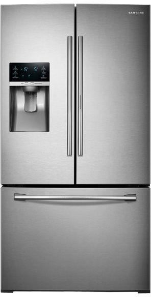 Samsung 28 Cu. Ft. 3-Door French Door Refrigerator-Stainless Steel-RF28HDEDBSR