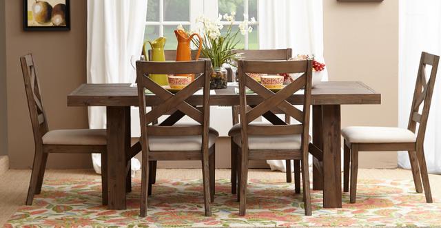 Jofran Inc. Hampton Road Trestle Dining Table and Chair Set-872-79-6x628KD