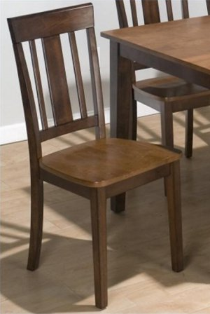 Jofran Inc. Kura Espresso and Canton Gold Triple Upright Chair-875-265KD