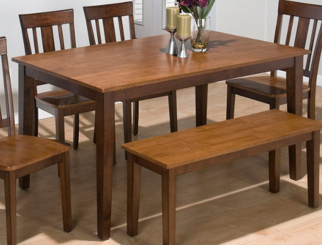 Jofran Inc. Kura Espresso and Canton Gold Rectangle Table-875-60