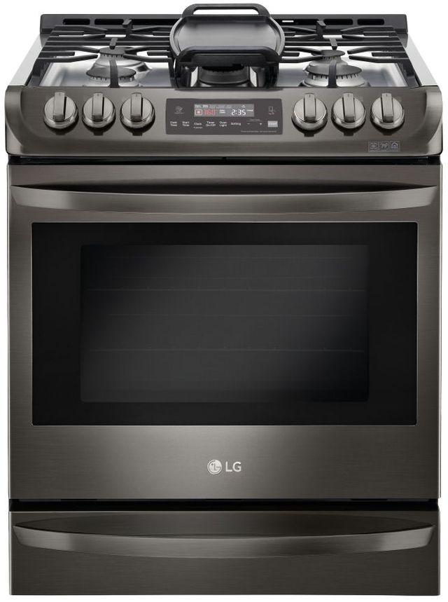 """LG 30"""" Black Stainless Steel Slide In Gas Range-LSG4513BD"""