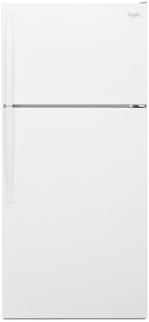 Whirlpool® 14.3 Cu.Ft. Top Freezer Refrigerator-White-WRT314TFDW