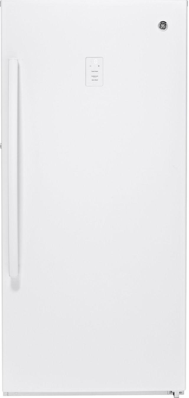 GE® 14.1 Cu. Ft. Upright Freezer-White-FUF14SMRWW