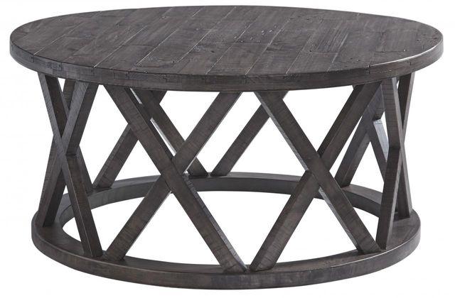 Signature Design by Ashley® Sharzane Grayish Brown Round Coffee Table-T711-8