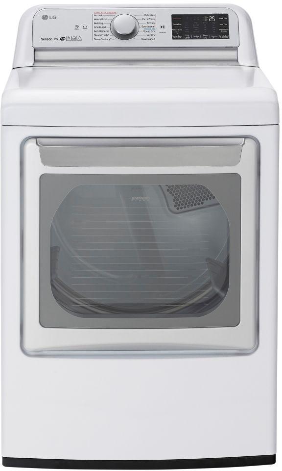 LG 7.3 Cu. Ft. White Front Load Gas Dryer-DLGX7801WE
