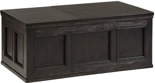 Signature Design by Ashley® Gavelston Rubbed Black Lift Top Coffee Table-T752-9
