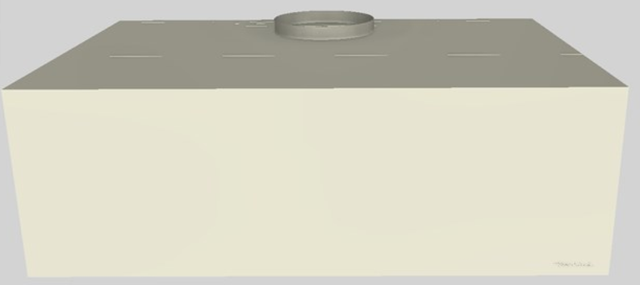 """Vent-A-Hood® 36"""" Wall Mounted Range Hood-Biscuit-CWH-236 BT"""