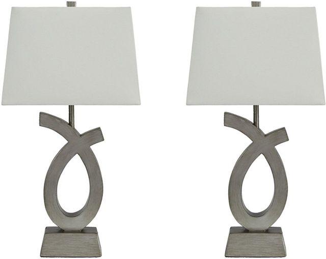 Ashley® Amayeta Set of 2 Piece Contemporary Table Lamps-L243134