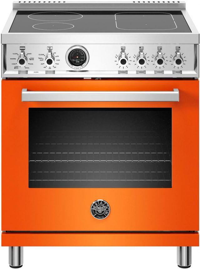 "Bertazzoni Professional Series 30"" Orange Free Standing Electric Range-PROF304INSART"
