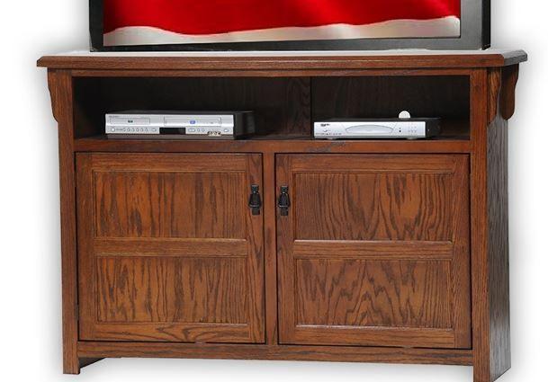 American Heartland Oak Tall TV Stand-88559