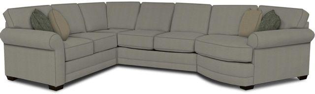 England Furniture Co. Brantley 4 Piece Culpepper Cement/Alvarado Mineral/Highlander Pebble Sectional-5630-28-22-43-95+8612+8767+8601