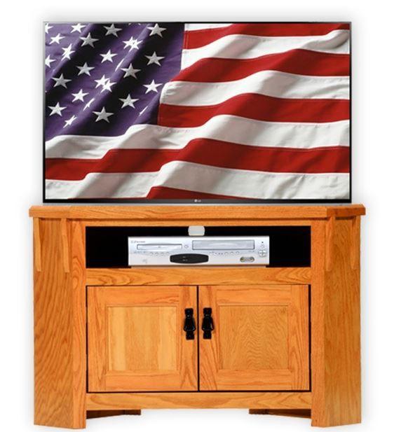 American Heartland Oak Corner TV Stand-88730