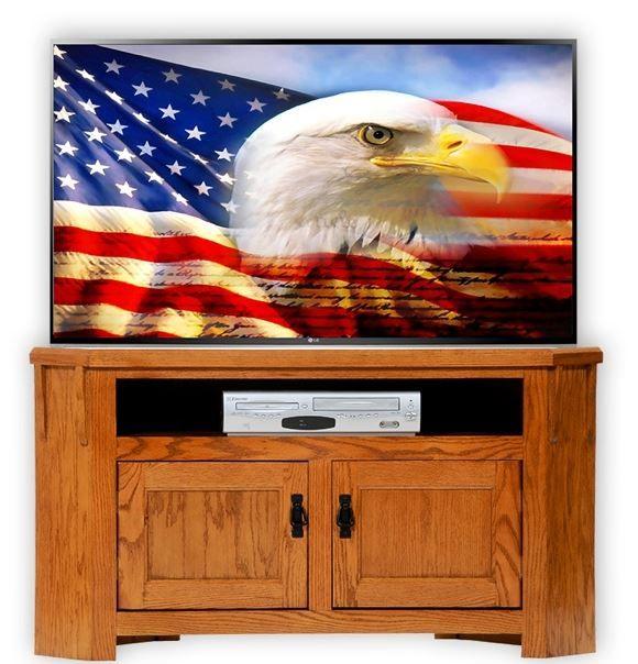 American Heartland Oak Corner TV Stand-88738