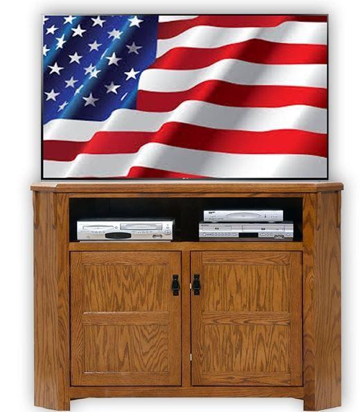 American Heartland Oak Tall Corner TV Stand-88743