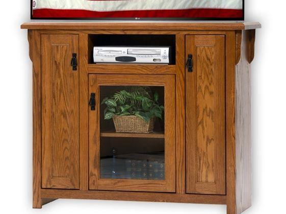 American Heartland Oak Tall TV Stand-88848