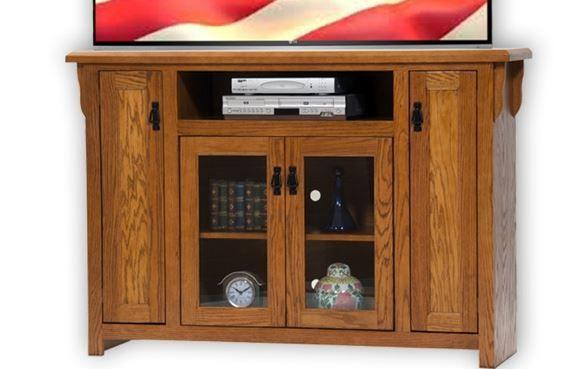 American Heartland Oak Tall TV Stand-88856