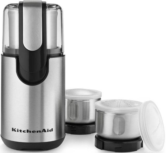 KitchenAid® Onyx Black Blade Coffee and Spice Grinder-BCG211OB