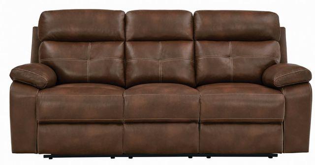 Coaster® Damiano Tri-tone Brown Button Tufted Motion Sofa-601691