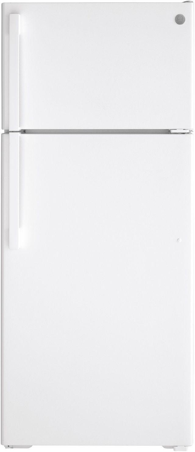 GE® 17.5 Cu. Ft. White Top Freezer Refrigerator-GIE18GTNRWW
