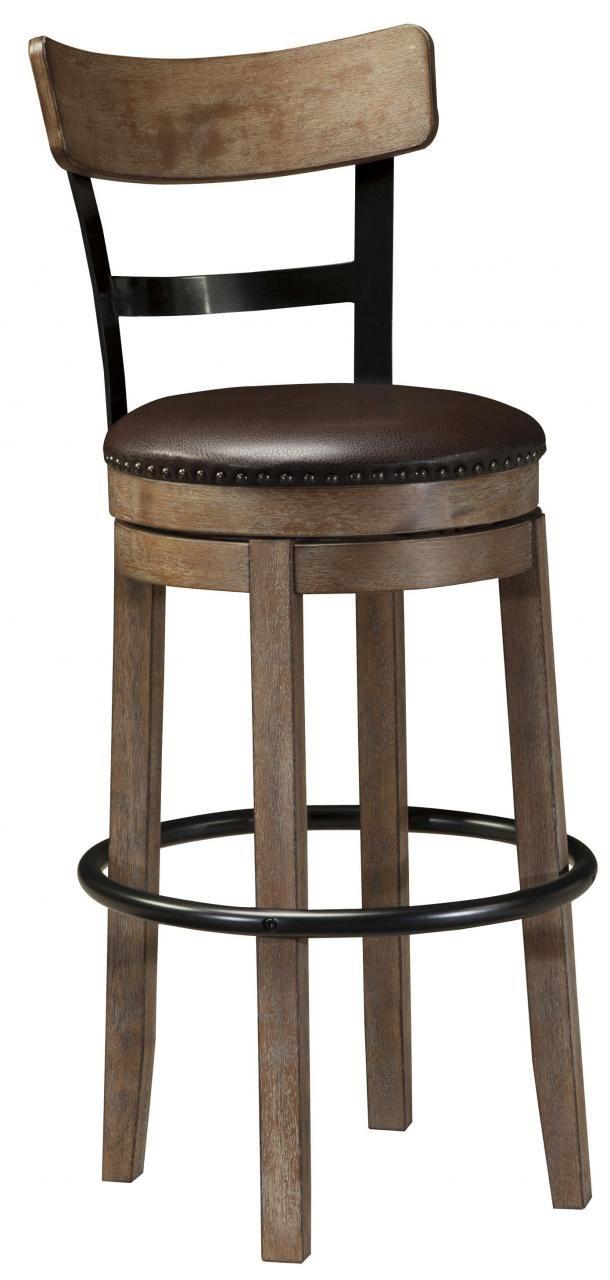 Signature Design by Ashley® Pinnadel Light Brown Tall Upholstered Swivel Barstool-D542-130