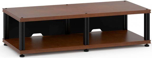Salamander Designs® Synergy Twin 10 AV Cabinet-Dark Cherry/Black-SN10C/B