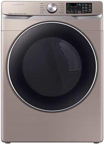 Samsung 7.5 Cu. Ft. Champagne Front Load Electric Dryer-DVE45R6300C