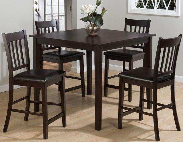 Jofran Inc. Marin County Merlot 5-Piece Counter Height Dining Table Set-892