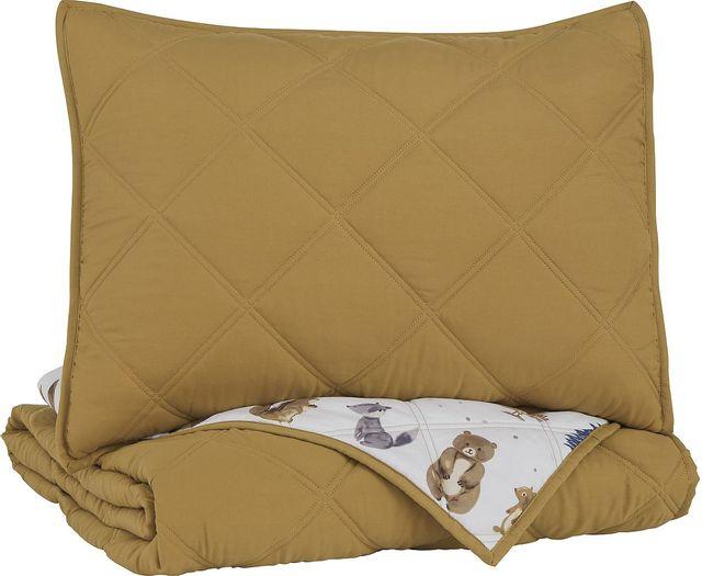 Signature Design by Ashley® Cooperlen Golden Brown Full Quilt Set-Q713003F